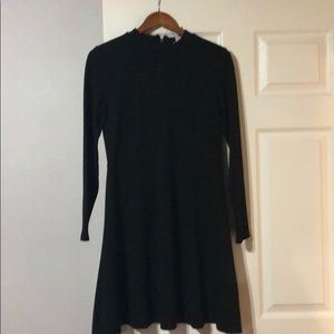H&M long sleeve black dress